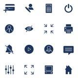 Colecci?n plana moderna del vector de los iconos Elementos del interfaz, negocio y art?culos de la oficina Aislado en el fondo bl libre illustration