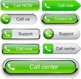 Colección alto-detallada del botón del Web del teléfono. Fotografía de archivo libre de regalías
