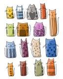 Colección colorida de los gatos, bosquejo para su diseño Imágenes de archivo libres de regalías