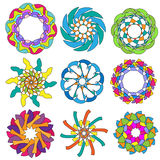 Colección colorida del ornamento Imágenes de archivo libres de regalías