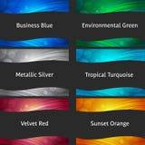 Colección colorida ondulada de los fondos Imagen de archivo libre de regalías