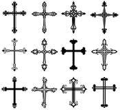 Colección cruzada religiosa del diseño Imagen de archivo libre de regalías