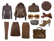 Colección de alineada y de zapatos Fotos de archivo libres de regalías