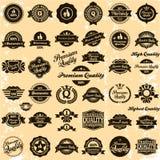 Colección de escrituras de la etiqueta superiores de la calidad y de la garantía Fotografía de archivo