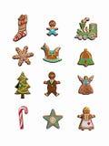 Colección de galletas de la Navidad. Foto de archivo libre de regalías
