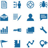 Colección de iconos del vector para el diseño. Fotografía de archivo