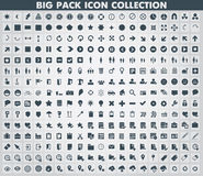 Colección de iconos planos Fotografía de archivo libre de regalías
