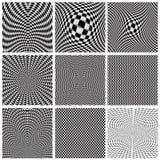 Colección de ilusiones ópticas de los fondos Fotografía de archivo