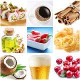 Colección de imágenes del alimento Foto de archivo libre de regalías