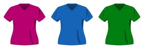Colección de la camisa del color del deporte del vector Imagenes de archivo