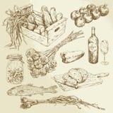 Colección de la comida Imagen de archivo libre de regalías
