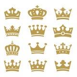 Colección de la corona - silueta del vector Imagen de archivo libre de regalías