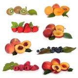 Colección de la fruta suave Imagen de archivo