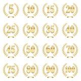 colección de la guirnalda del laurel para el jubileo Imágenes de archivo libres de regalías