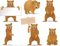 Colección de la historieta del oso Fotografía de archivo libre de regalías