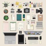 Colección de la materia de la oficina Foto de archivo