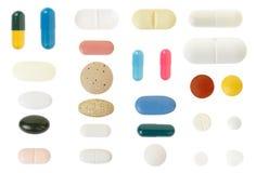 Colección de la píldora y de la cápsula Foto de archivo libre de regalías