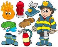 Colección de la protección contra los incendios Imagen de archivo libre de regalías