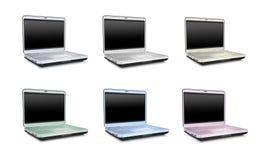 Colección de las computadoras portátiles Fotografía de archivo libre de regalías