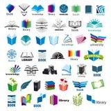 Colección de libros de los logotipos del vector Fotos de archivo libres de regalías