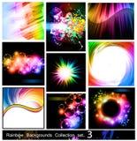 Colección de los fondos del arco iris - conjunto 3 Imagenes de archivo