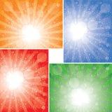 Colección de los fondos del rayo de sol Fotografía de archivo