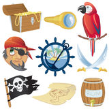 Colección de los iconos del pirata Imagen de archivo libre de regalías