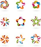 Colección de los iconos y de las insignias abstractos - 6 Imágenes de archivo libres de regalías