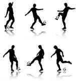 Colección de los jugadores de fútbol Imagen de archivo libre de regalías