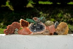 Colección de los minerales Fotos de archivo