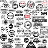 Colección de los sellos de goma Fotografía de archivo libre de regalías