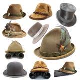 Colección de los sombreros más oktoberfest y de la caza Imagen de archivo libre de regalías
