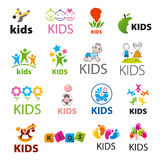 Colección de niños de los logotipos del vector Imagen de archivo