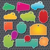 Colección de nubes del discurso de la información, vector Imagen de archivo libre de regalías