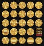 Colección de oro de las escrituras de la etiqueta Imagen de archivo
