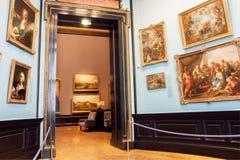 Colección de pinturas del museo de Kunsthistorisches con las ilustraciones a partir del 14ta centure, Viena Foto de archivo