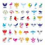 Colección de pájaros de los logotipos del vector Foto de archivo