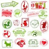 Colección de sello de la Navidad Foto de archivo libre de regalías