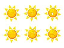 Colección de Sun Imágenes de archivo libres de regalías