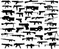 Colección del arma Foto de archivo