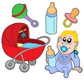 Colección del bebé Fotografía de archivo libre de regalías