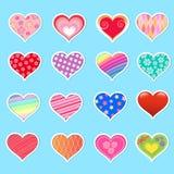 Colección del corazón Foto de archivo