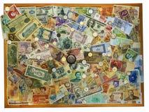 Colección del dinero del fondo Imágenes de archivo libres de regalías
