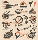 Colección del diseño del logotipo del restaurante Imágenes de archivo libres de regalías