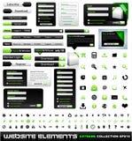 Colección del extremo de los elementos del diseño de Web Fotografía de archivo libre de regalías