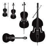 Colección del instrumento musical Fotos de archivo