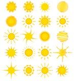 colección del sol de 20 veranos Imágenes de archivo libres de regalías