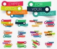 Colección del vector de banderas de papel de la etiqueta engomada Imágenes de archivo libres de regalías