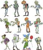 Colección del zombi Imagen de archivo libre de regalías