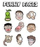 Colección divertida de las caras Imagenes de archivo
